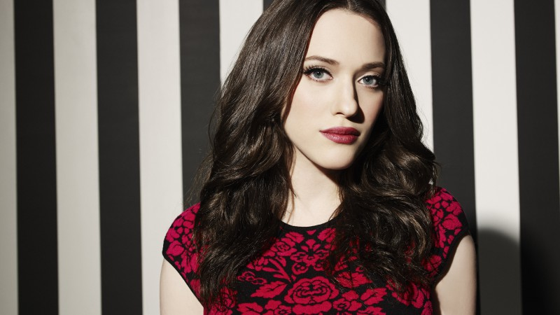 Kat Dennings, Most Popular Celebs in 2015, actress, red lips, brunette