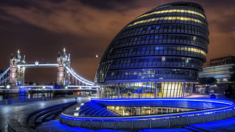 City Hall, London, England, tourism, travel (horizontal)