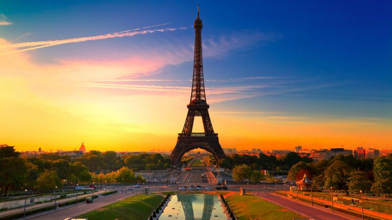 Eiffel Tower, Paris, France, Tourism, Travel (horizontal)