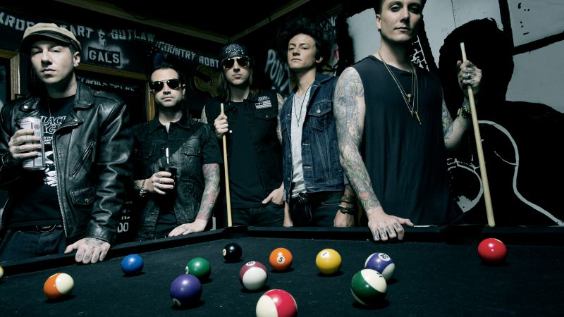 Avenged Sevenfold, Top music artist and bands, M. Shadows, Zacky Vengeance, Synyster Gates, Johnny Christ (horizontal)