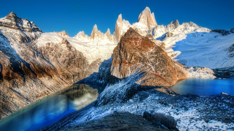 Andes, Argentina, mountain, lake, travel, tourism