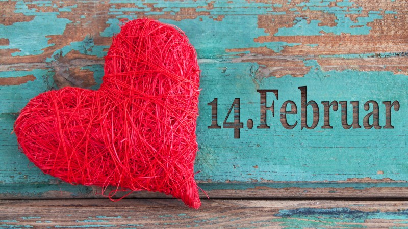 Valentine's Day, February 14, red, heart, love, celebration (horizontal)