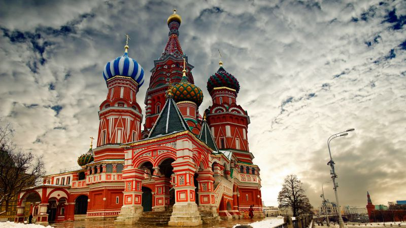 St. Basil's Cathedral, Moscow, Russia, Red Square (horizontal)
