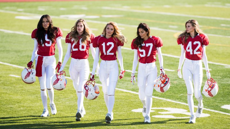 Adriana Lima, Top fashion model, Behati Prinsloo, Lily Aldridge, Doutzen Kroes, Candice Swanepoel, Victoria's Secret Angel, Super Bowl, Don't Drop a Ball (horizontal)