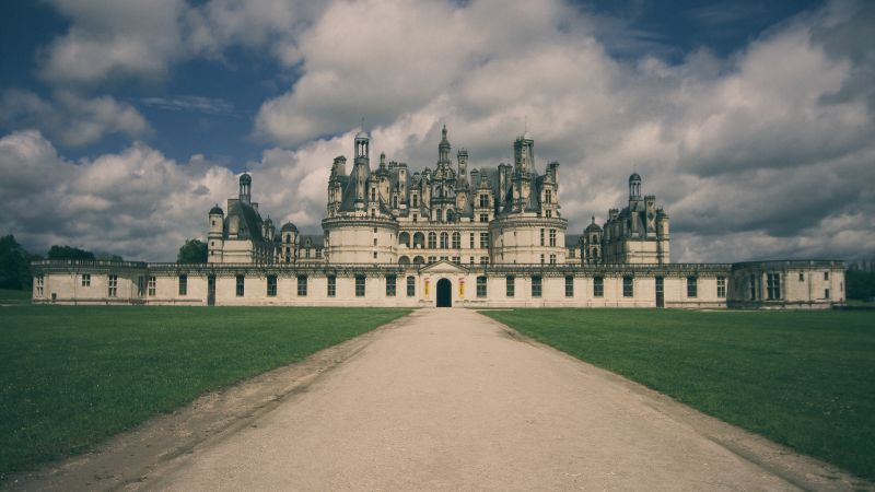 Château de Chambord, France, castle, travel, tourism (horizontal)