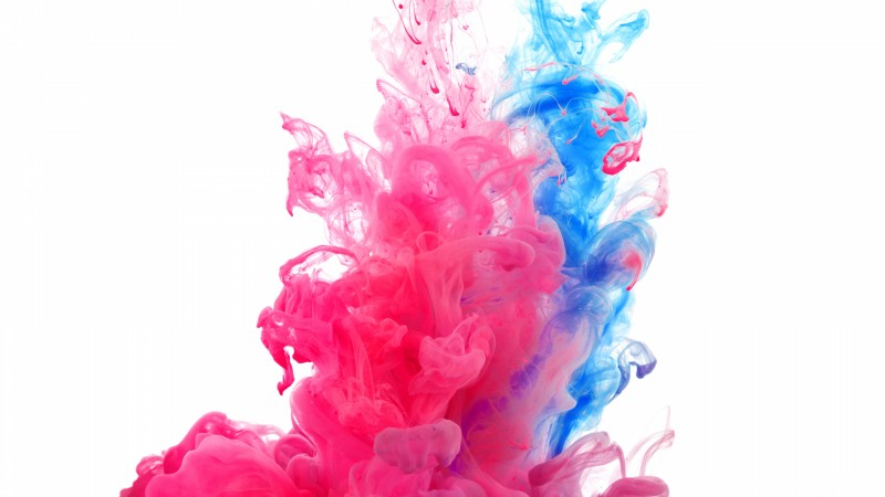 Holi, 4k, 5k wallpaper, water, India, public holiday, paint, underwater, red, blue, live wallpaper, live photo (horizontal)
