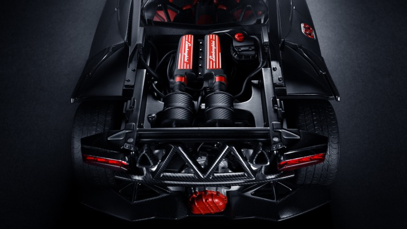 Lamborgini, engine, back, opened, racing, supercar