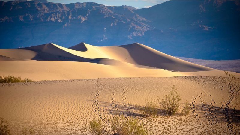 Death valley, USA, desert, sand, mountains
