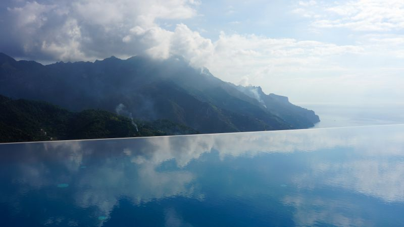 Hotel Caruso, 4k, HD wallpaper, Italy, infinity pool, travel, tourism (horizontal)