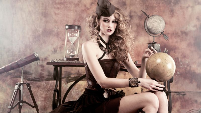 Hazy Leather, Top Fashion Models, model, steam punk (horizontal)