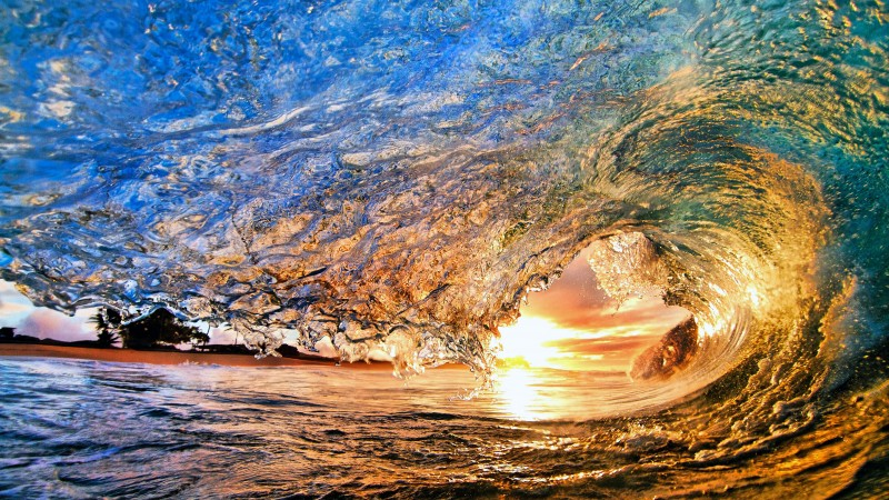 Sea, Ocean, Water, sunset, sunrise, sun, wave