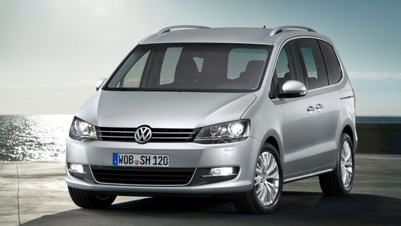 Volkswagen sharan, VAN, grey, sea. (horizontal)