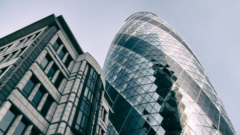 Gherkin building, London, UK, skyscrapers (horizontal)
