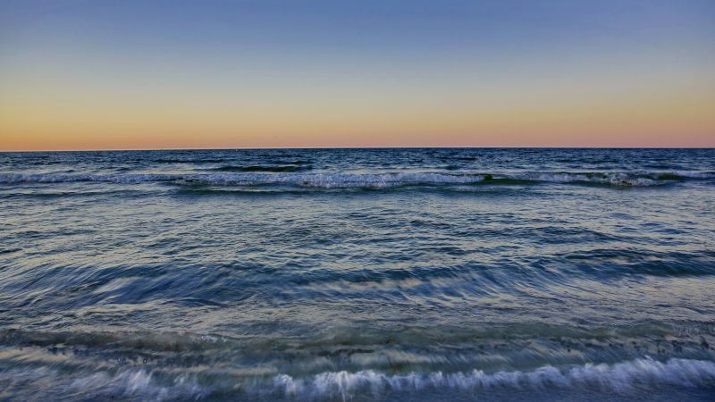 Baltic Sea, 4k, 5k wallpaper, 8k, Ostsee, sunset, waves (horizontal)