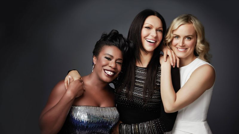 Uzo Aduba, Laura Prepon, Taylor Schilling, actress, Orange Is the New Black (horizontal)