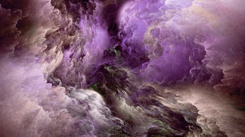 Clouds, abstract, purple, live wallpaper, live photo