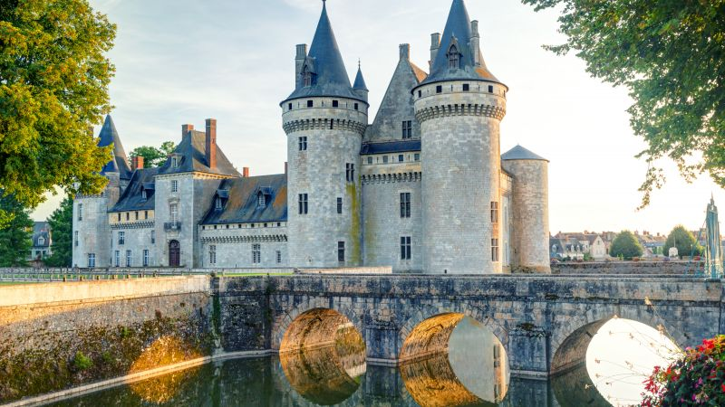 Chateau de sully-sur-loire, France, castle, travel, tourism (horizontal)