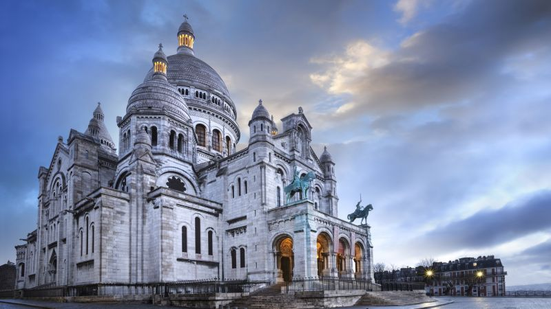 Paris, France, Montmartre, basilique, travel, tourism (horizontal)