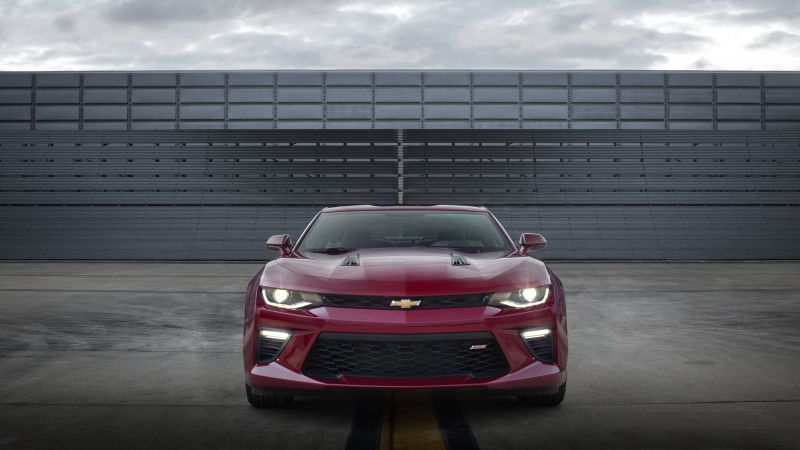 Chevrolet Camaro SS, muscle car, coupe, red