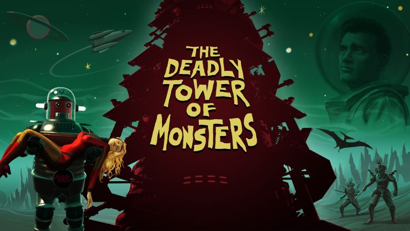 The Deadly Tower of Monsters, Best Games 2015, game, sci-fi, PC, PS4