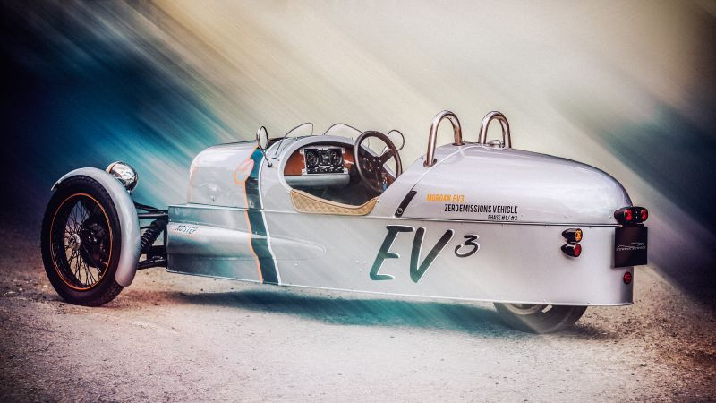 Morgan EV3, electric, sport car, wheeler, review, test drive (horizontal)