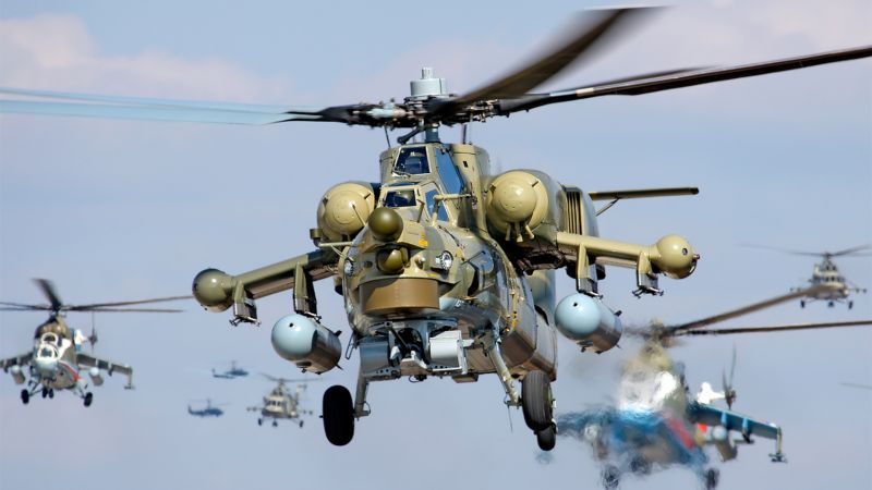 Mi-28, Attack helicopter, Russian Army (horizontal)