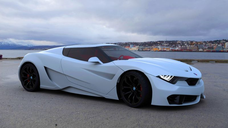 BMW M9, roadster, coupe, white (horizontal)