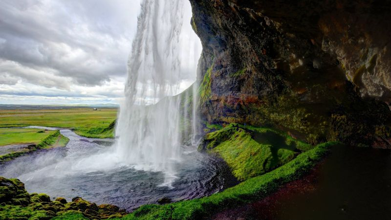 Seljalandsfoss, 5k, 4k wallpaper, Iceland, waterfall, travel, tourism (horizontal)