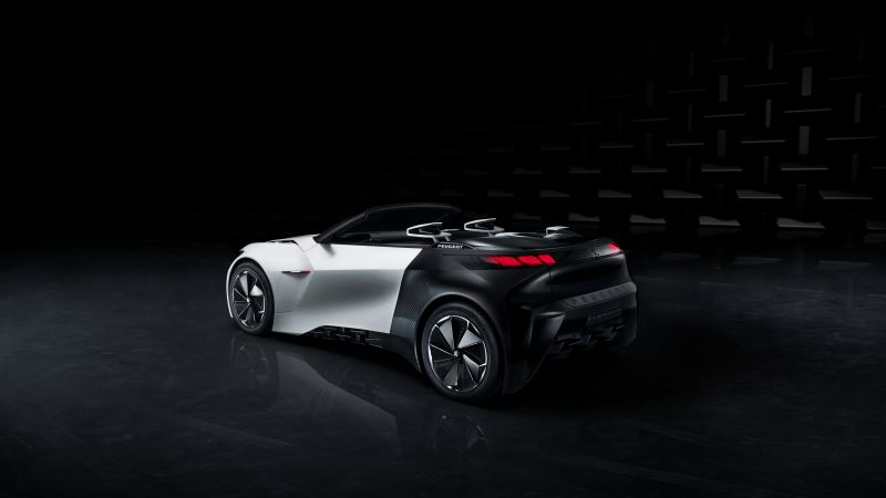 Peugeot Fractal, electric cars, white, black