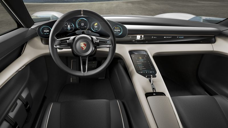 Porsche Mission E, Electric Cars, supercar, 800v, interior (horizontal)