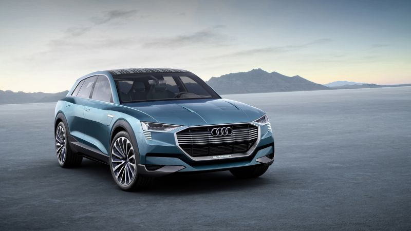Audi e-tron quattro, electric cars, SUV, green (horizontal)