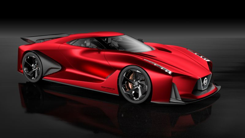 Nissan 2020 Vision Gran Turismo, red, concept, Nissan, supercar, luxury cars, sports car, speed, test drive