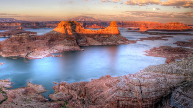 Lake, Sunset, Powell, Alstrom Point