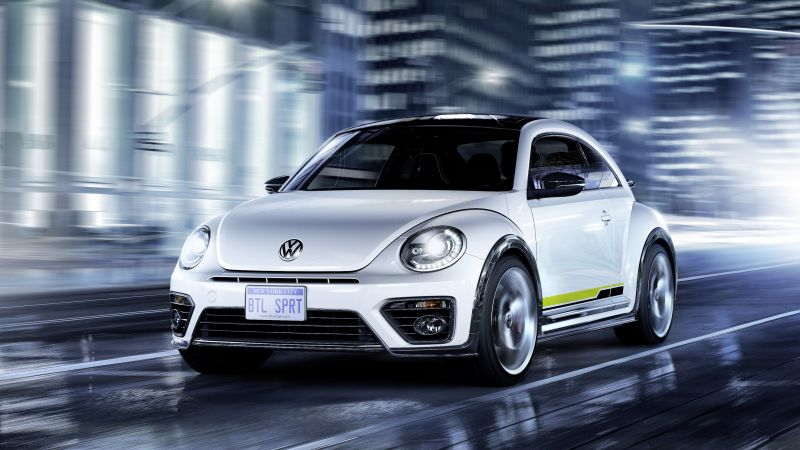 Volkswagen Beetle, R-Line, white, Concept, cars 2016 (horizontal)