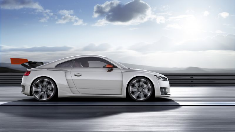Audi TT Clubsport Turbo, concept, audi, sports car, racing, white (horizontal)