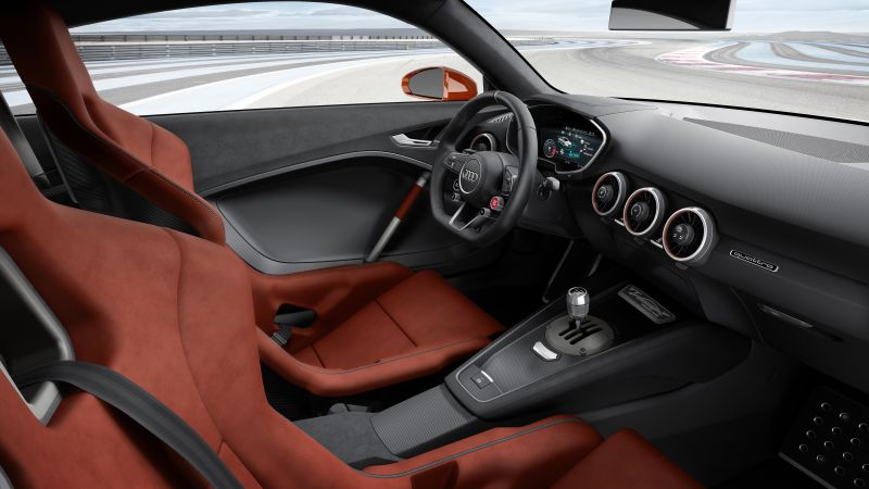 Audi TT Clubsport Turbo, concept, audi, sports car, racing, interior (horizontal)