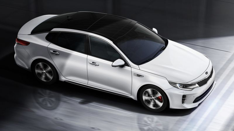 Kia Optima GT, supercar, white, luxury cars, sports car, test drive (horizontal)