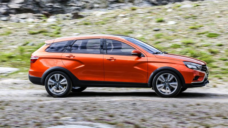 Lada Vesta Cross, city cars, review, test drive, orange (horizontal)
