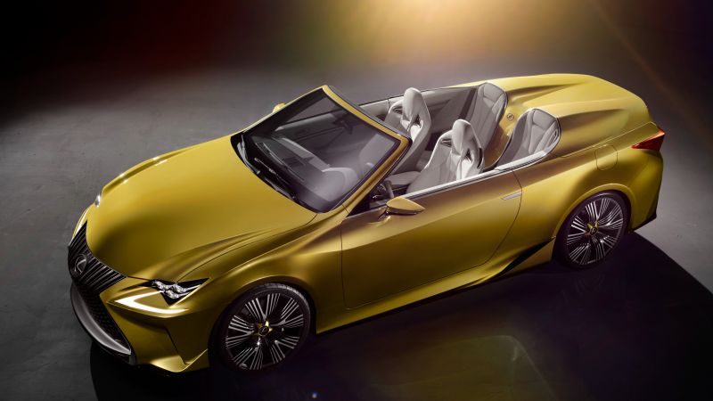 Lexus LF-C2, supercar, concept, gold, luxury cars, test drive