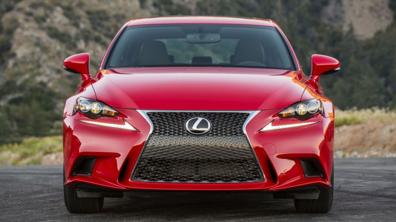 Lexus is200 T supercar, luxury cars, red, test drive (horizontal)