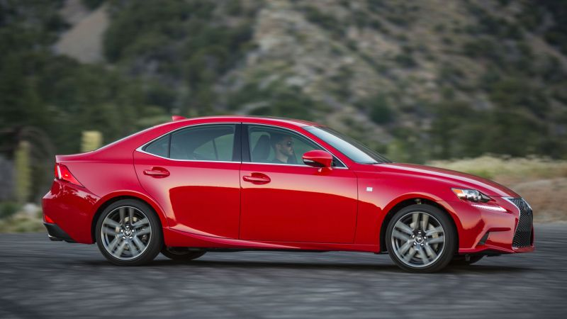Lexus is200 T supercar, luxury cars, red, test drive