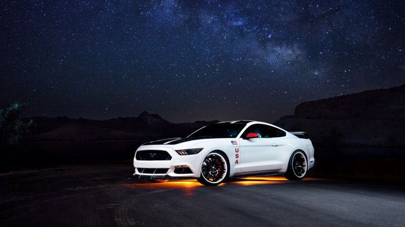 Ford Mustang Apollo Edition, mustang, white, sport cars (horizontal)