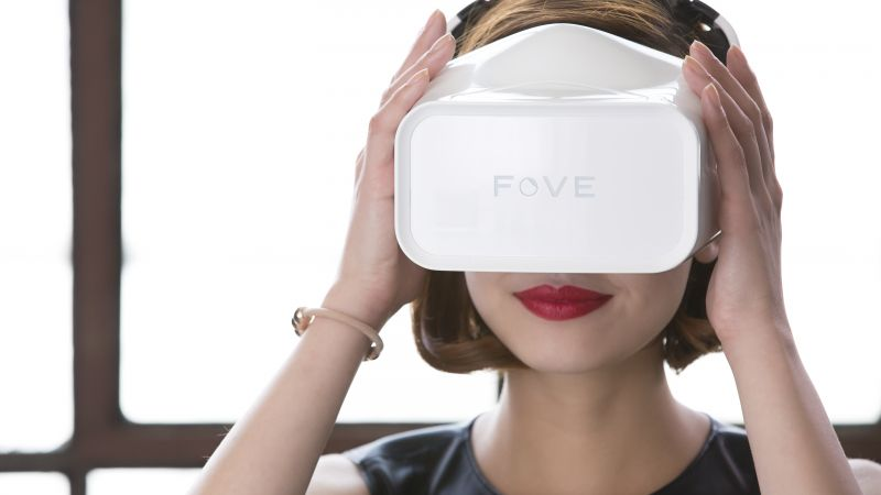Fove headset VR, Head-mounted display, concept, 2016