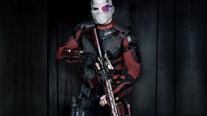 Deadshot, Suicide Squad, Will Smith, mask (horizontal)