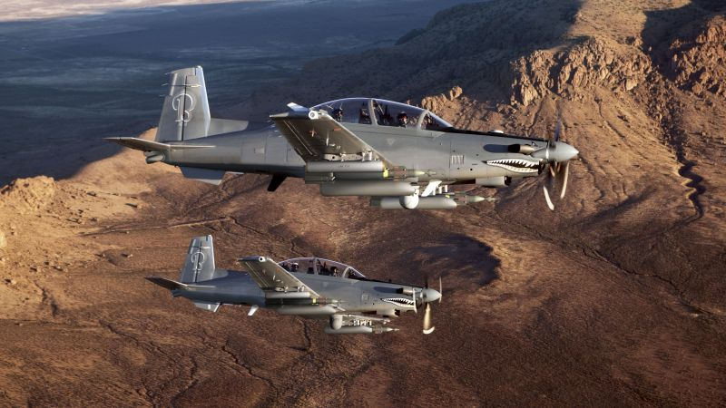Beechcraft AT-6, Light Attack Aircraft, USA army, fighter aircraft, air force, USA (horizontal)