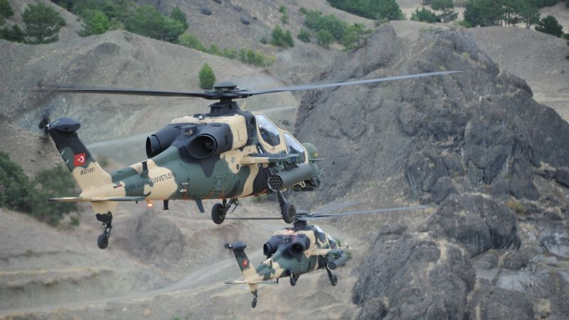 Agusta Westland T-129, AgustaWestland, attack helicopter, Turkish Aerospace Industries,