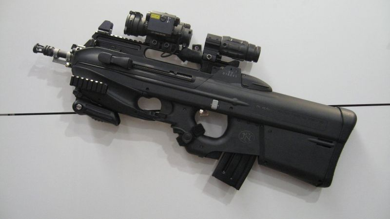 FN F2000, 5.56×45mm, NATO, assault rifle,  (horizontal)