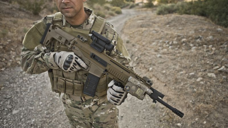 Remington ACR, Magpul Masada, soldier, NATO, assault rifle (horizontal)