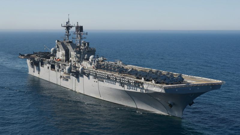 LHD-8, USS MAKIN ISLAND, assault ship (horizontal)