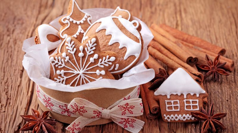 Christmas, New year, cookies, cinnamon (horizontal)